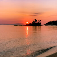 Sunrise at Agios Nikolaos island