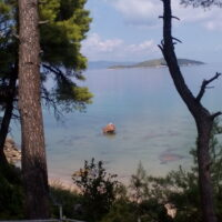 view of Pontikonisi island